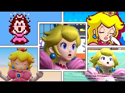 EVOLUTION OF PRINCESS PEACH DEATHS & GAME OVER SCREENS (1988-2019) NES, SNES, GBA, Switch & More!