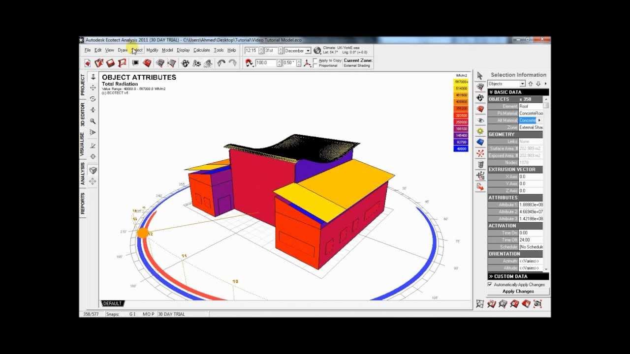 autodesk ecotect analysis