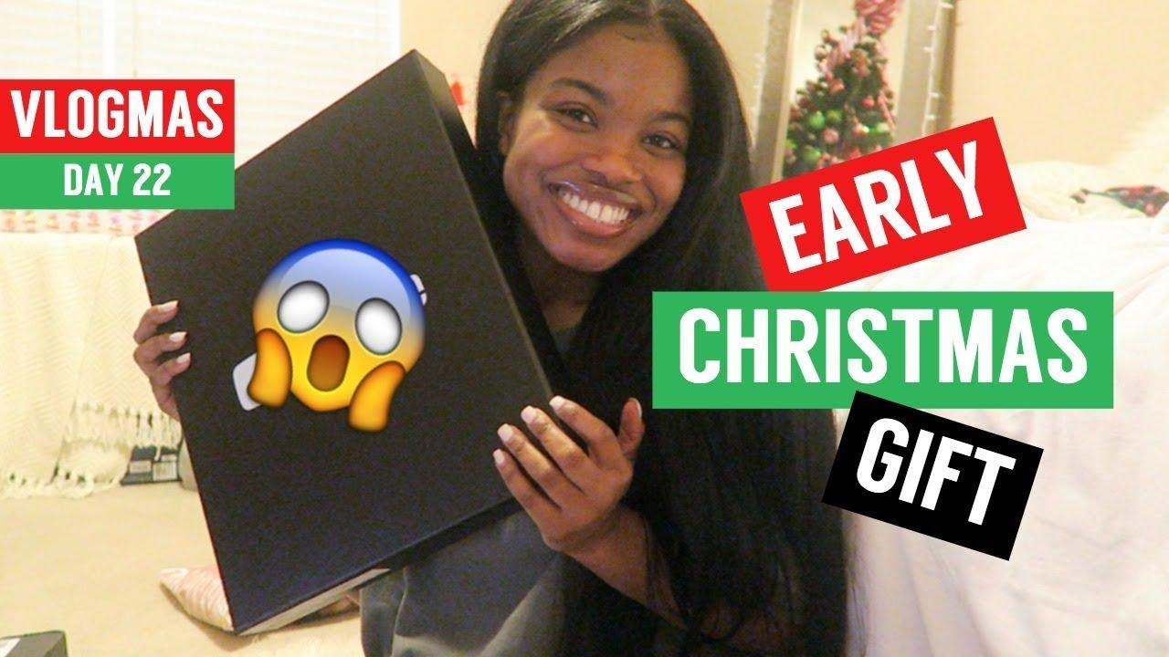 EARLY CHRISTMAS GIFT!! | VLOGMAS DAY 22 - YouTube
