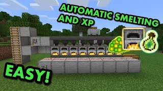 SIMPLE 1.17 XP SUṖER SMELTER TUTORIAL in Minecraft Bedrock (MCPE/Xbox/PS4/Nintendo Switch/Windows10)