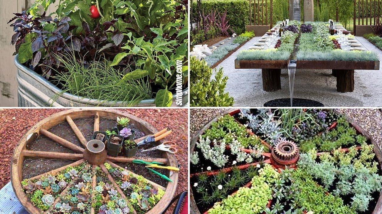 10 Unique and Unusual DIY Vegetable Garden Ideas - YouTube