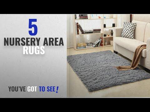 Top 10 Nursery Area Rugs [2018 ]: LOCHAS Ultra Soft Indoor Modern Area Rugs Fluffy Living Room