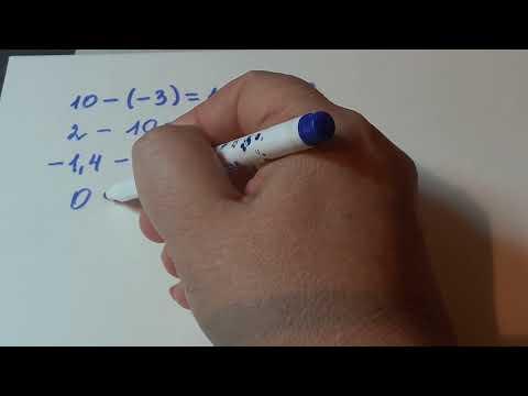 6 кл. Вычитание чисел с разными знаками