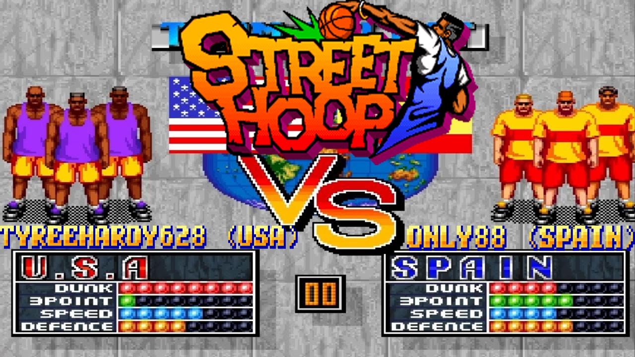 Fightcade online - Street Hoop - TyreeHardy628 (USA) vs. only88 (Spain) - HD