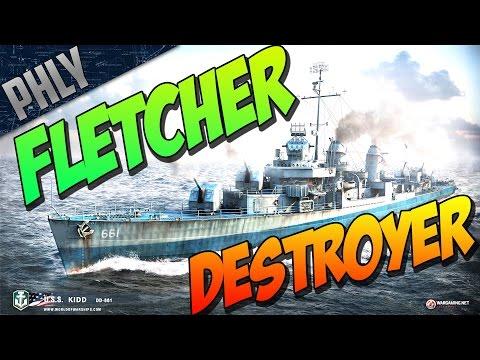 World Of Warships Gameplay! My Favorite Destroyer! Tier 9 FLETCHER!