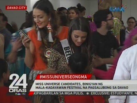 Miss Universe candidates,   binigyan ng mala-Kadayawan Festival na   pagsalubong sa Davao