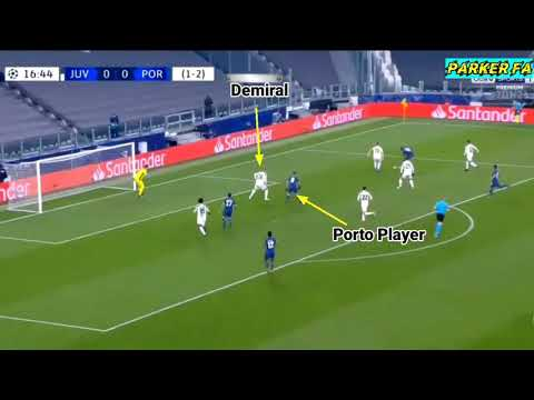 Demiral Stupid Challenge Cost Juventus vs Porto | Where was the contact made?