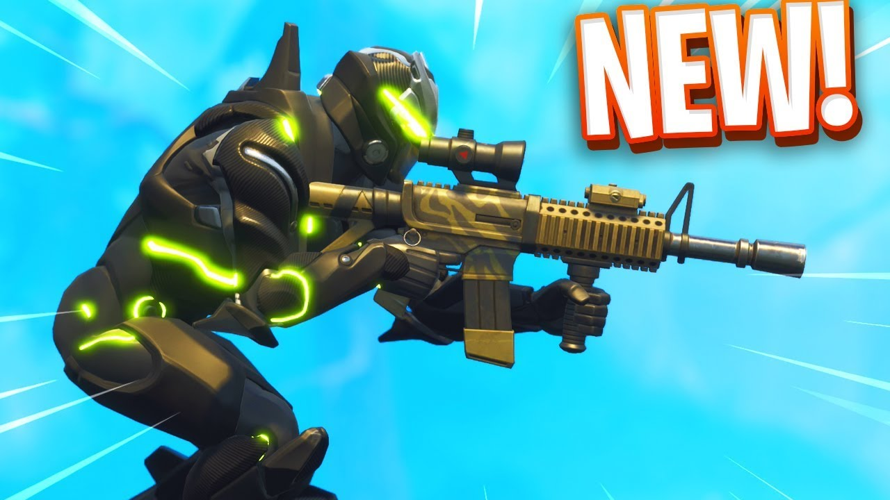 new thermal scoped ar gameplay in fortnite youtube