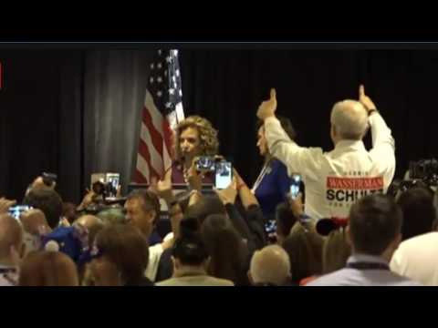 Debbie Wasserman Schultz FULL SPEECH: BOOED OFF STAGE at DNC By Florida Delegation 7/25/16