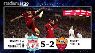 Liverpool 5-2 AS Roma | UCL SF 1st leg Highlights | Astro SuperSport