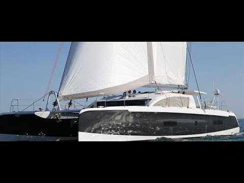 Outremer 5X catamaran Walkthrough at Cannes 2017 ( la vagabonde xxl )