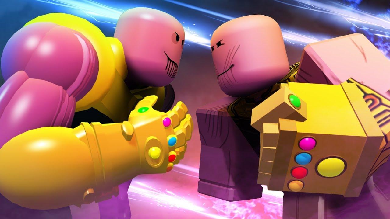 Roblox Thanos Game Thanos Vs Thanos Roblox Superhero Simulator Youtube