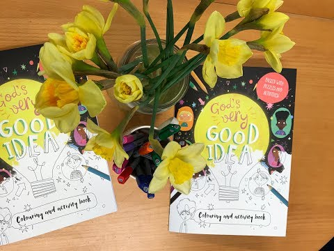 Sneak Peek Of The God's Very Good Idea Colouring Book