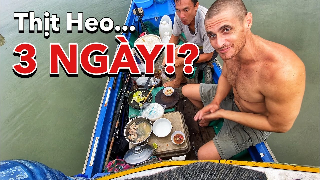 3 DAY OLD pork! Vietnamese SPRING ROLLs on BOAT | Thịt Heo 3 NGÀY! Làm Gỏi Cuốn Việt Nam Trên Ghe