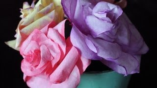 Repeat youtube video DIY Coffee Filter Roses (free template)