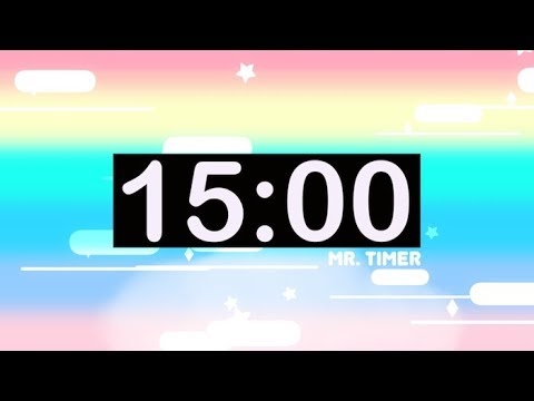 15 Minute Countdown Timer with Music for Kids!