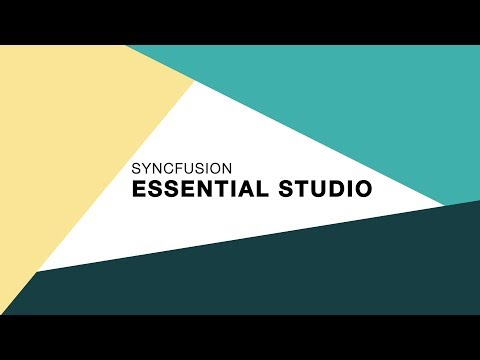 Syncfusion Essential Studio