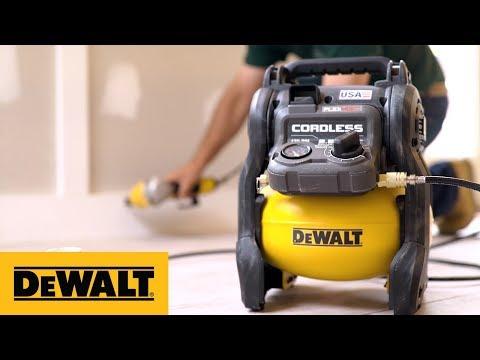 Built for the Jobsite: DEWALT® FLEXVOLT® 60V MAX* Cordless Air Compressor (DCC2560T1)