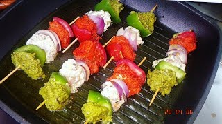 Tiranga Chicken Shashlik|Chicken Skewers|3 Types of Chicken Shashlik