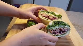[도시락요리] 바질샌드위치/ 바질페스토소스로  샌드위치…