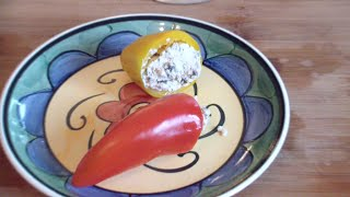 Hot Peppers Stuffed With Feta Cheese
