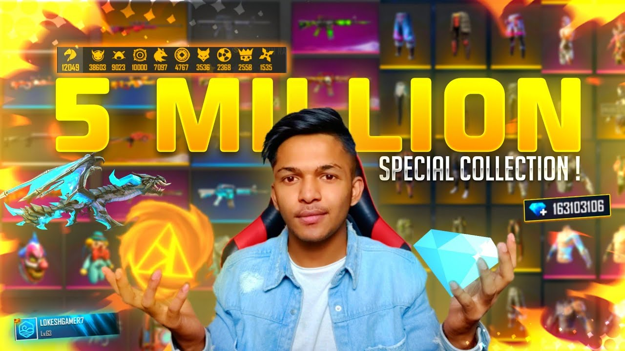 5 Million Special Collection Video At Garena Free Fire 2020 #LOKESHGAMERARMY