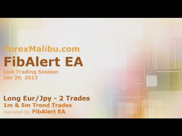 Jan 29, 2013 – FibAlert EA Long 1m and 5m Trend Trades – Live Forex Trading Training Room