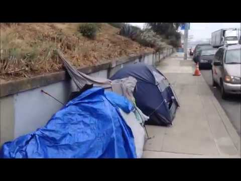 Fast Tour: From Mission District Homeless Camps through Mission Dolores; San Francisco, California
