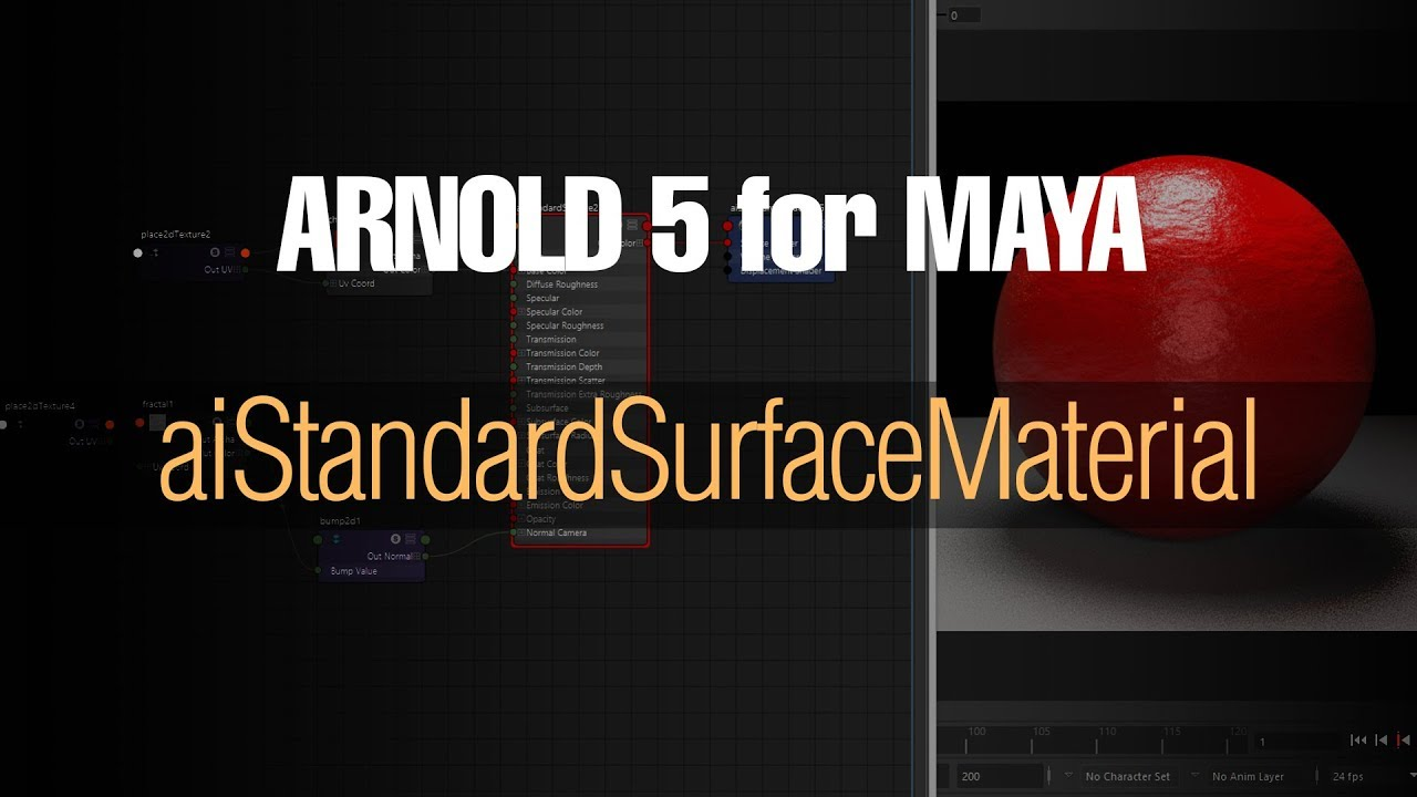 Arnold Standard Surface Shader Overview