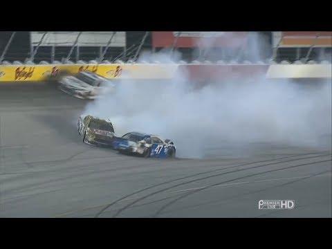 Monster Energy NASCAR Cup Series 2017. Darlington Raceway. DiBenedetto & Allmendinger Crash
