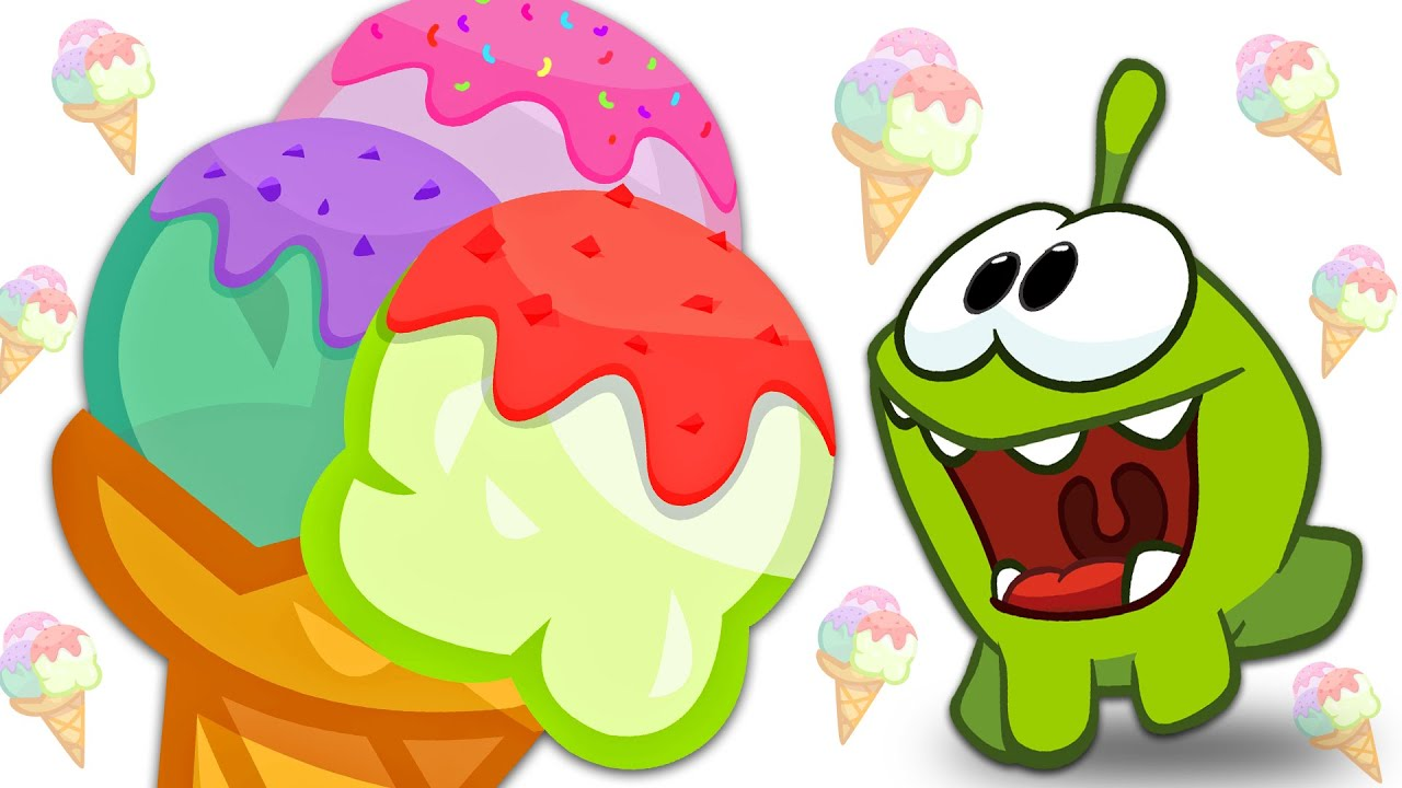 Om Nom Loves Ice cream | Learn Sizes with Ice Cream Scoops | Fun Learning Videos For Children