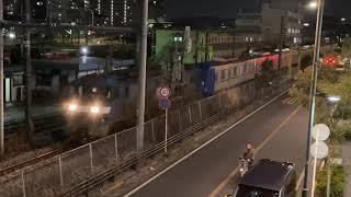東京メトロ17000系甲種輸送 新鶴見信号場到着