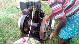 Field marshal 8 HP diesel engine startup