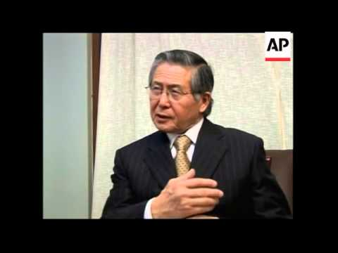 Interview with Fujimori about standing in Japanese election