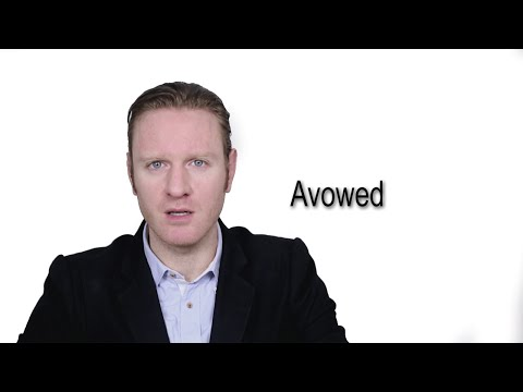 Avowed - Meaning | Pronunciation || Word Wor(l)d - Audio Video Dictionary