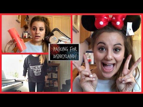 Packing For Disneyland Paris | Outfit Ideas, Makeup Bag, Etc | Alarah