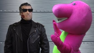 The Terminator Vs Barney The Dinosaur