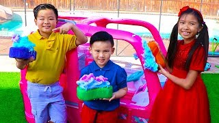 Car Wash Song | Wendy Pretend Play This Is the Way Nursery Rhymes & Kids Songs