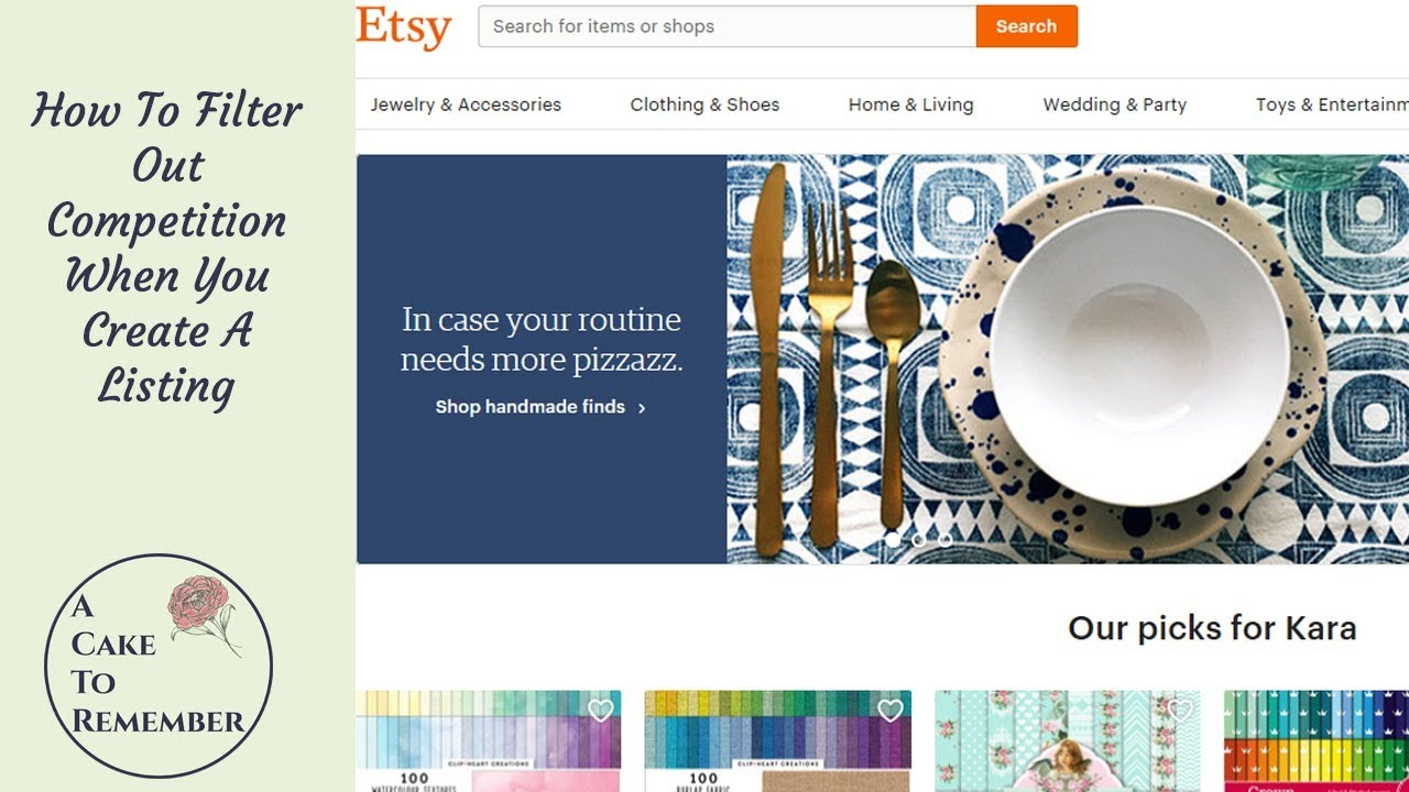 d2ae1a85401d1 Etsy tips and tutorials-- How to use categories and subcategories for  filtering out competition.