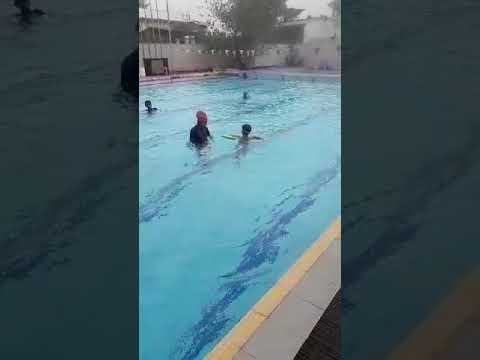 Swimming training in anula girls school colombo