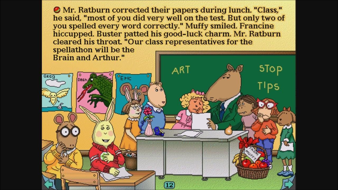 arthurs teacher trouble coloring pages - photo#10