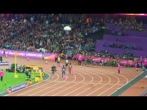 LONDON LIVE 400M MEN FINAL WORLD CHAMPIONSHIPS ATHLETICS, Wayde Van Nierkek