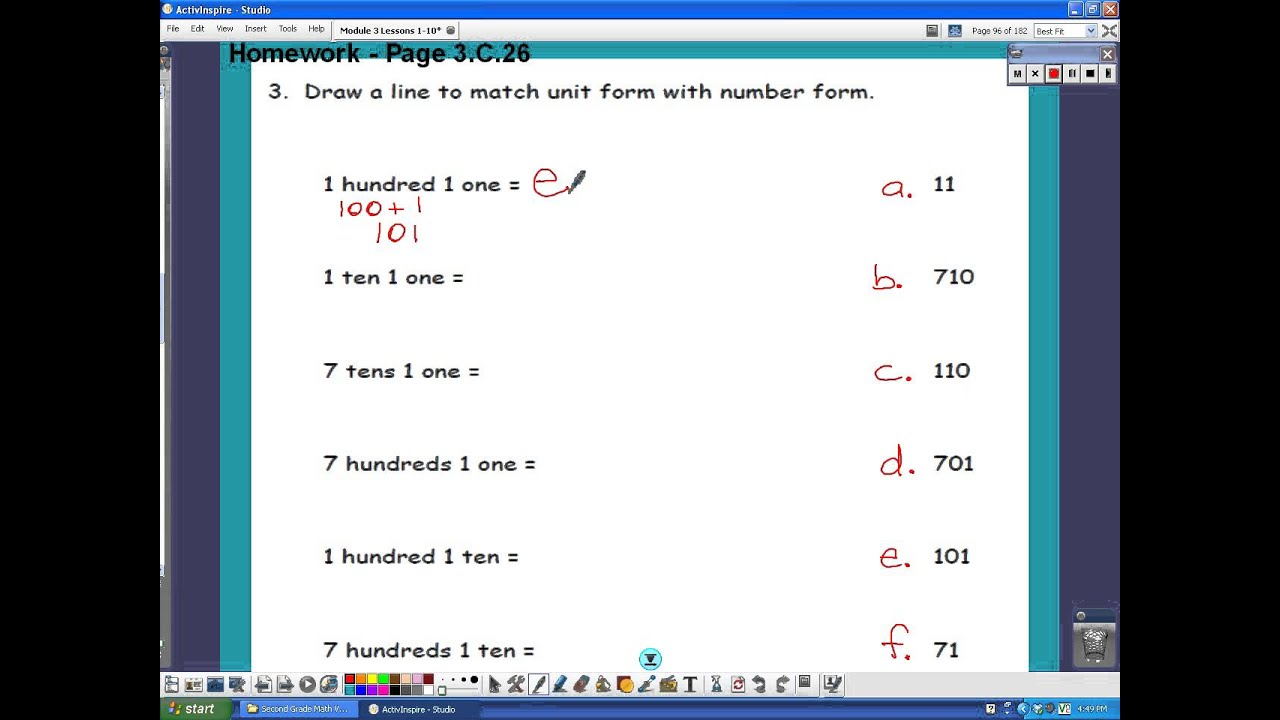 Write Three-Digit Numbers In Unit Form (video lessons, examples