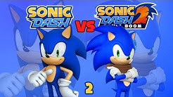Sonic Dash vs Sonic Dash 2 Sonic Boom: Who's the Fastest Round 2 [60fps]