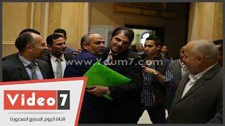 بالفيديو.. معتز كمال الشاذلى يصل البرلمان لاستخراج كارنيه العضوية