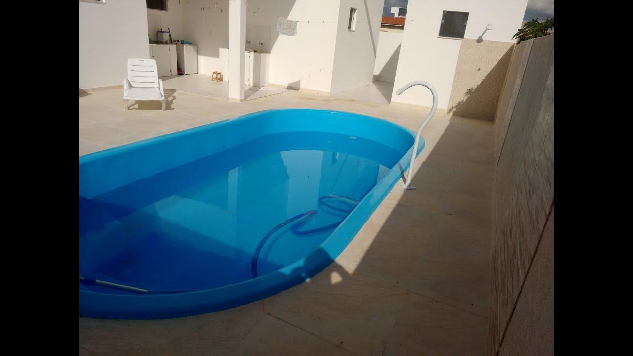 Instala o de piscina de fibra de vidro antes e depois for Piscinas de fibras