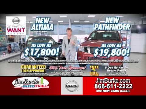 Jim Burke Nissan New Pathfinder $19,800 New Altima As Low As $17,800 ...