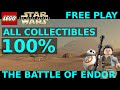 Lego Star Wars The Force Awakens - The Battle of Endor 100% - Gold Bricks + Collectibles Locations