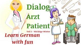Was sage ich beim Arzt? krank sein auf Deutsch. TEIL 3