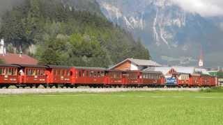 Zillertalbahn - Train à vapeur à Gagering (Fügen i. Z.)
